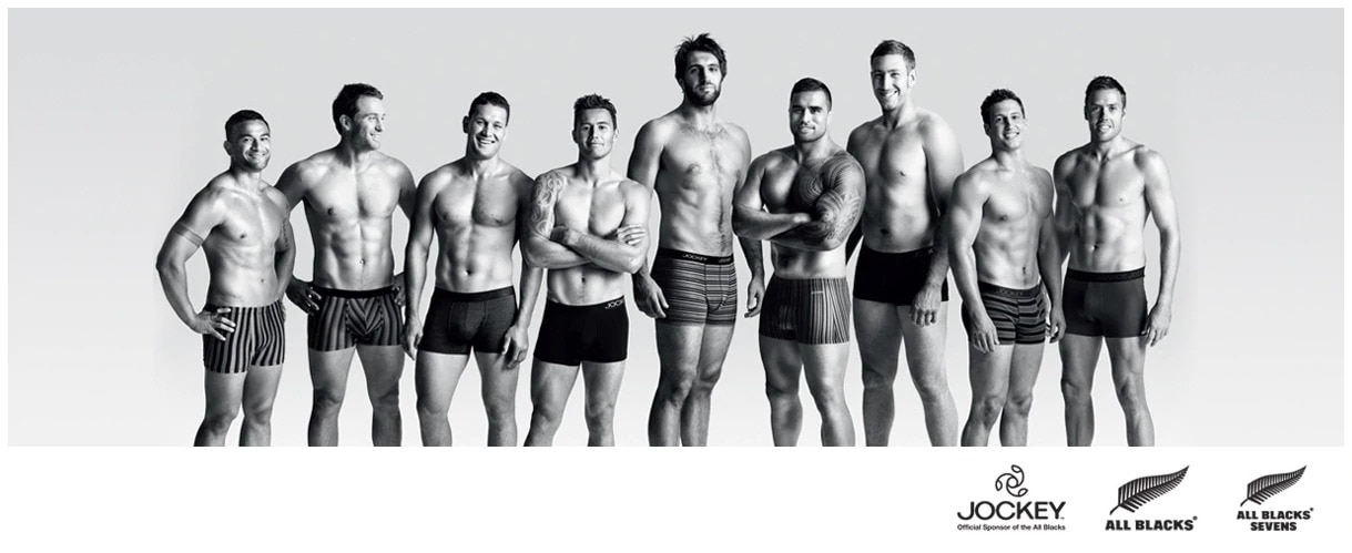 Jockey - Now Supporting the New Zealand All Blacks